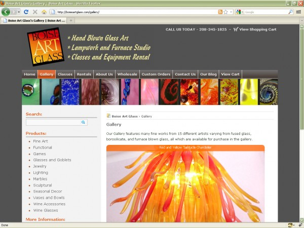 Boise Art Glass Website
