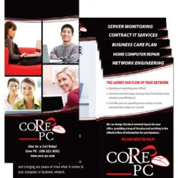 Core PC Mini-Folder and Step Down Fliers