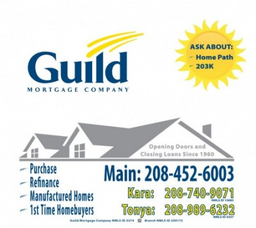 Guild Mortgage - Fruitland Office: Window Signage