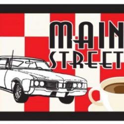 Main Street Diner Logo and Menu Design
