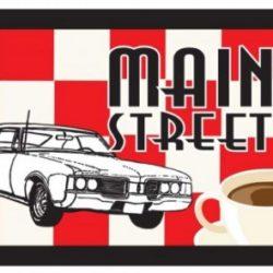 Main Street Diner Logo and Menu Design