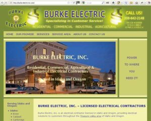 Burke Electric Inc. - Website Design
