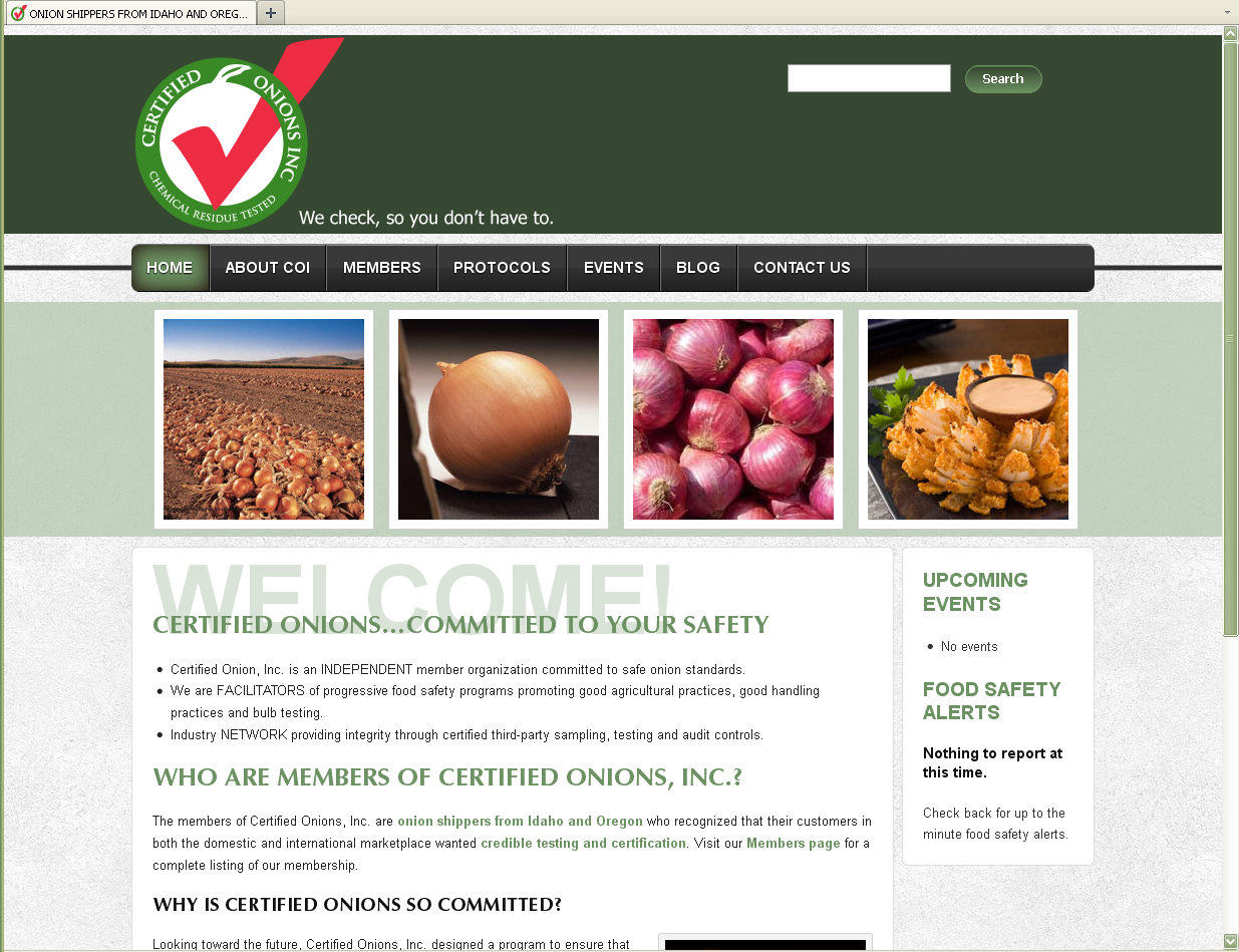 Certified Onions - Website Design