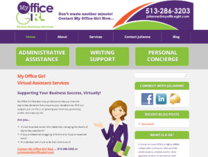 My Office Girl Website Design