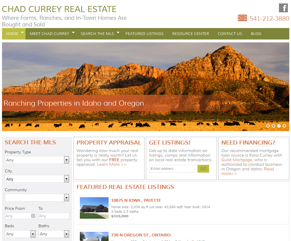 Chad Currey Real Estate Realtor Website