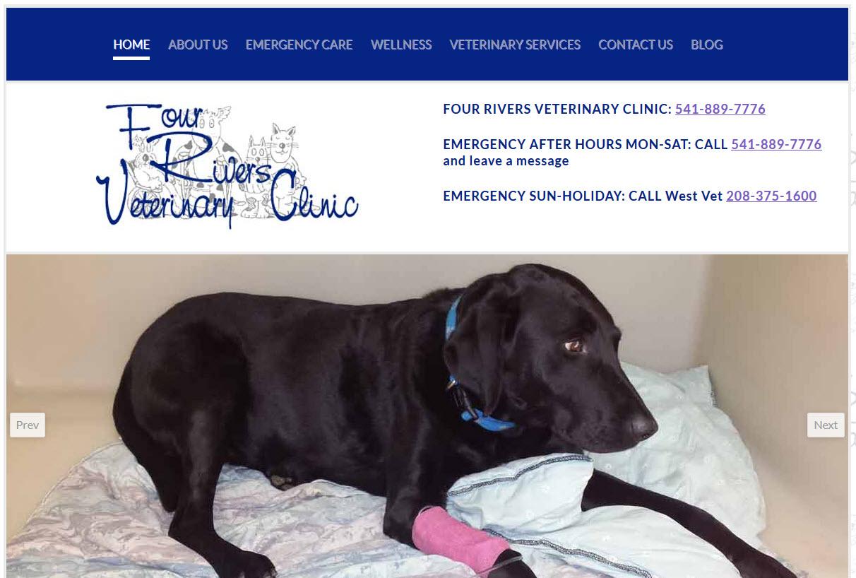 Four Rivers Veterinary Clinic - Veterinary Website Design