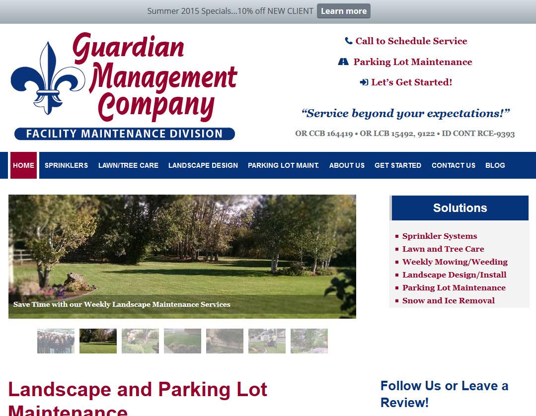 Guardian Management Company - Landscape Maintenance Website